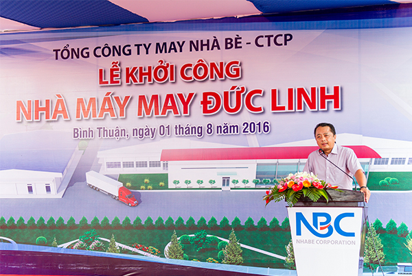 The groundbreaking ceremony of Duc Linh Garment Factory - Binh Thuan